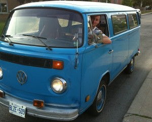 My first ride in my new 79' vw