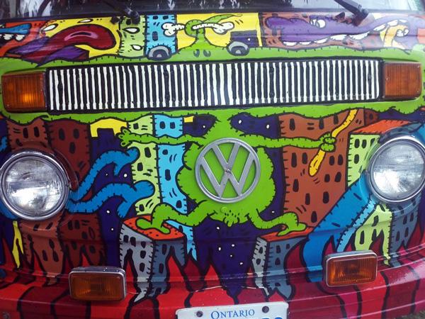 Alex Currie aka Runt paint job on the Hippie Van