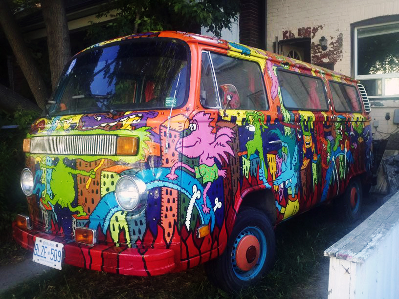 The hippie van