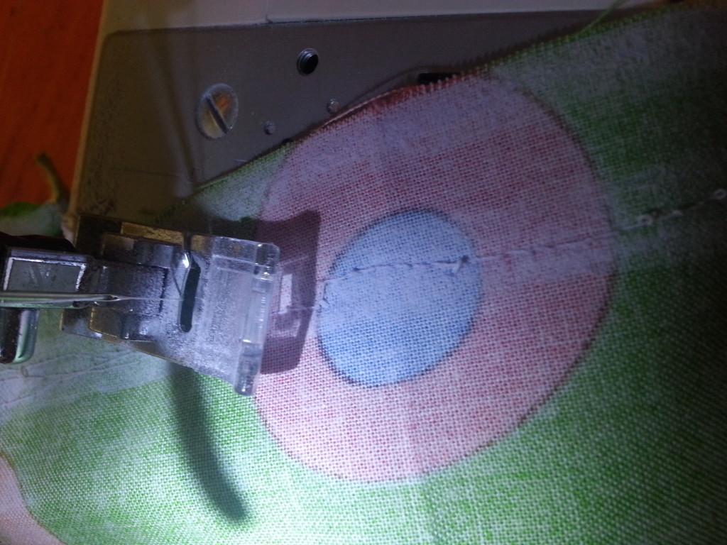 Sew along inner line