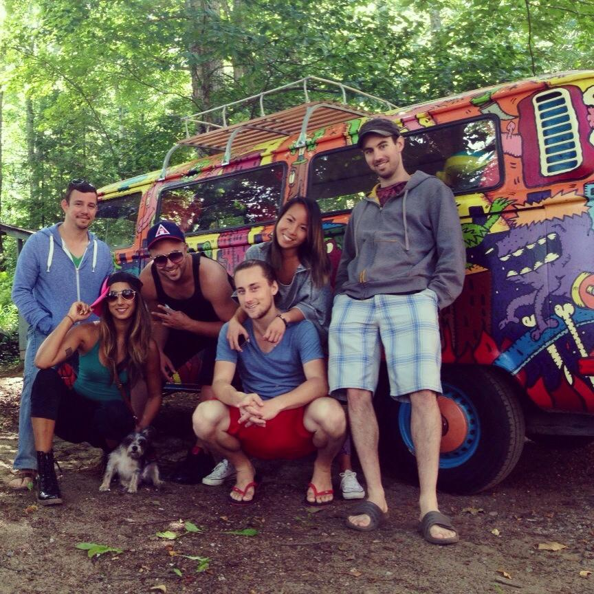 Group Shot with the Hippie Van