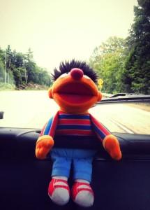 Ernie in the Hippie Van