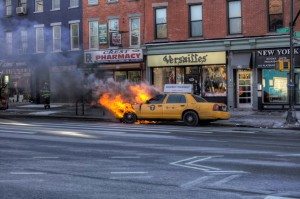 nyc taxi fire