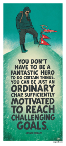 You don't have to be a fantastic hero...