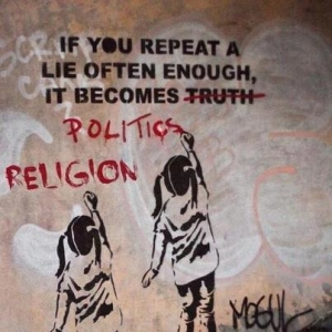 If you repeat a lie often enough...