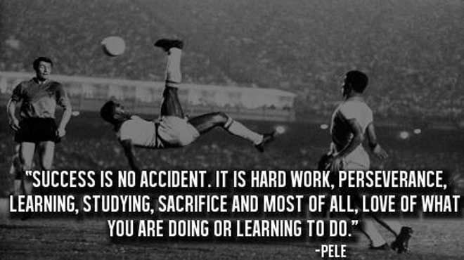 passion soccer quote pele