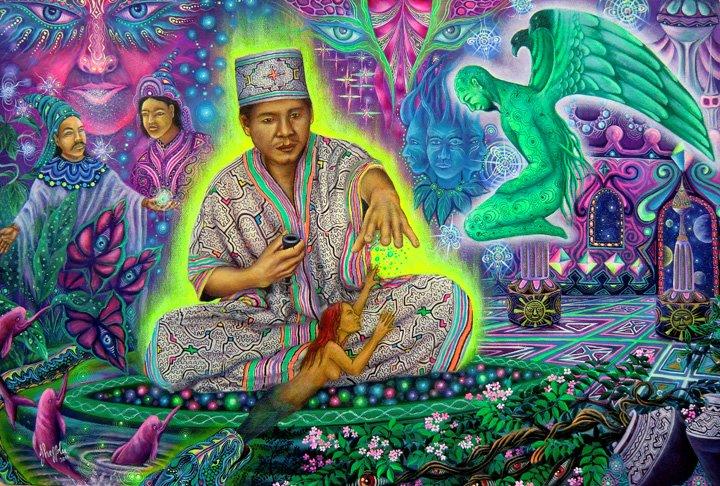 Art hippie et psychédélique - Page 6 Pablo-amaringo2