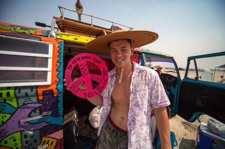 Hippie Van Burning Man
