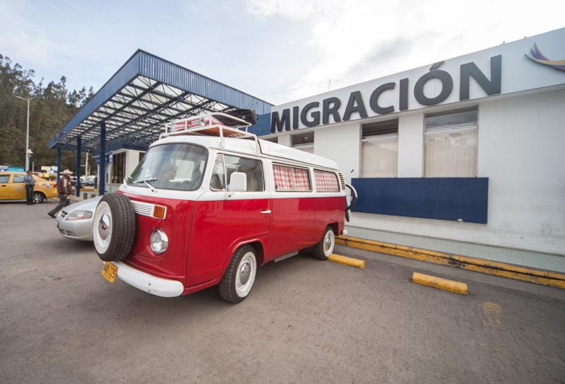 Red Volkswagen Kombi