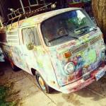 hippie van mural